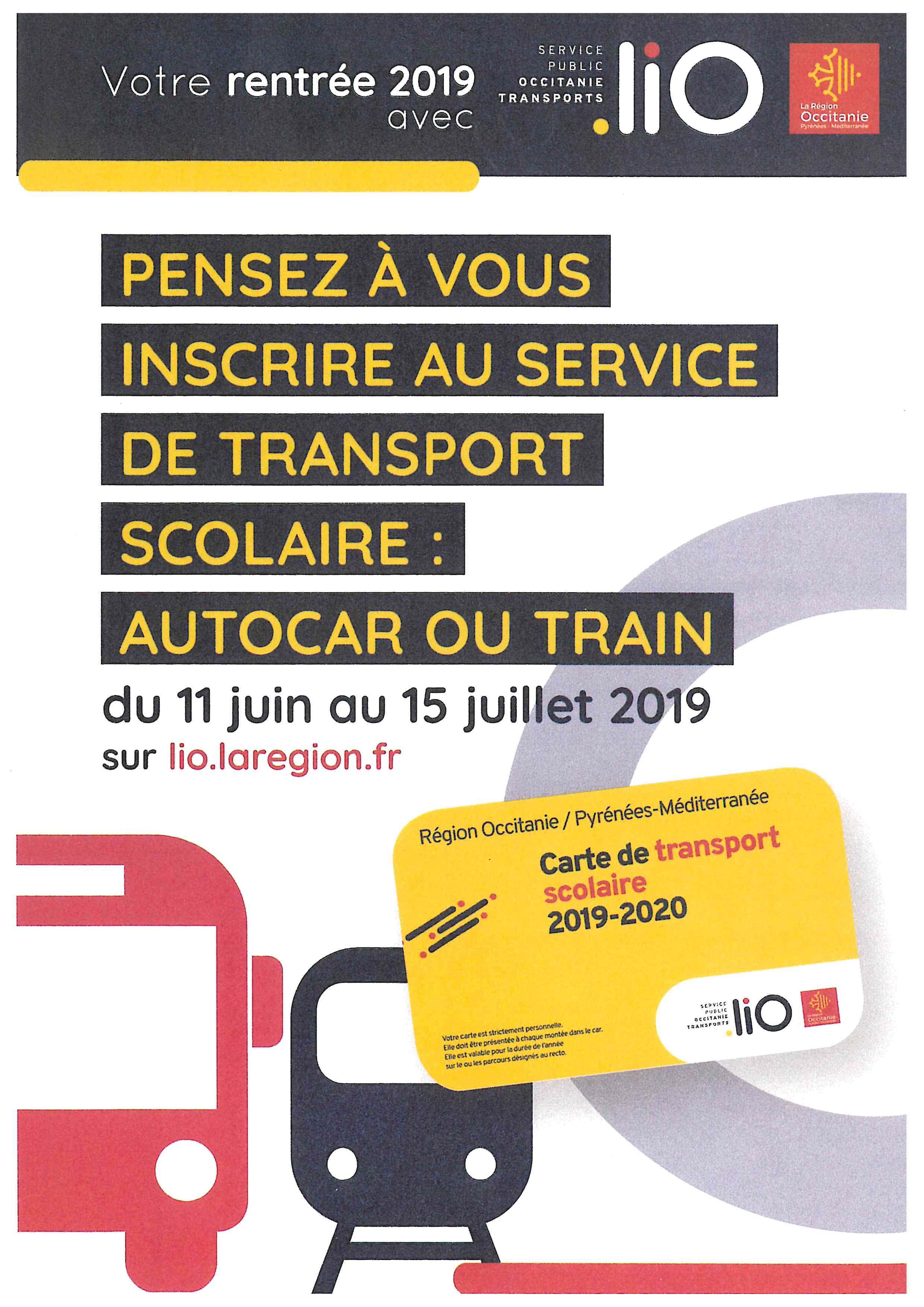 carte transport scolaire